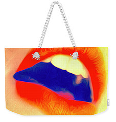Weekender Tote Bag featuring the photograph Kiss Me- by JD Mims
