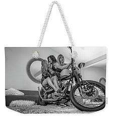 Weekender Tote Bag featuring the photograph Kiss Me Now- by JD Mims