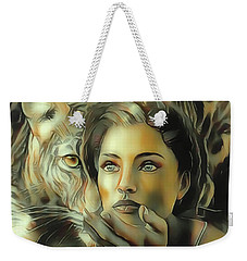 Kiss Of The Leopard Woman Weekender Tote Bag