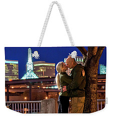 Kiss Under The Cherry Tree - Vertical Weekender Tote Bag