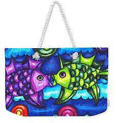 Kissing Fish Weekender Tote Bag