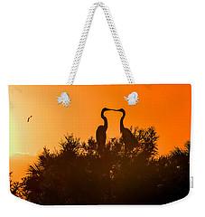 Kissing Herons  Weekender Tote Bag