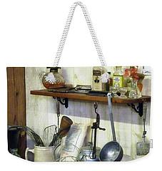Kitchen With Wire Basket Of Eggs Weekender Tote Bag by Susan Savad