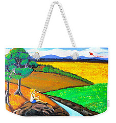 Weekender Tote Bag featuring the painting Kite by Cyril Maza