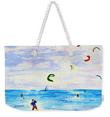 Kite Surfer Weekender Tote Bag by Jamie Frier