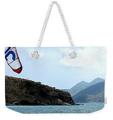 Kite Surfer St Kitts Weekender Tote Bag by Ian  MacDonald