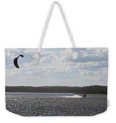 Weekender Tote Bag featuring the photograph Kiteboarding by Miroslava Jurcik