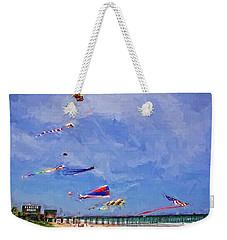 Kites At The Flagler Beach Pier Weekender Tote Bag