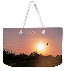 Kites Flying In Park Weekender Tote Bag