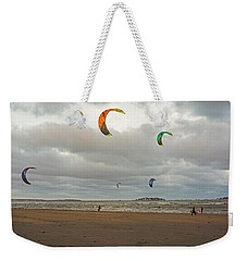 Kitesurfing On Revere Beach Weekender Tote Bag