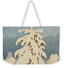 Kittelsen, Theodor 1857-1914 The Christmas Tree Weekender Tote Bag