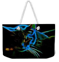 Kitten Blue Weekender Tote Bag