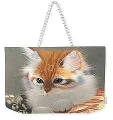 Kitten In A Basket Weekender Tote Bag by Sergey Lukashin