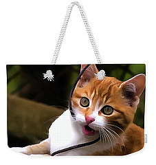Kitten Portrait Player Weekender Tote Bag