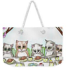 Kitten Tea Party Weekender Tote Bag