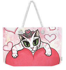Kitten With Heart Weekender Tote Bag