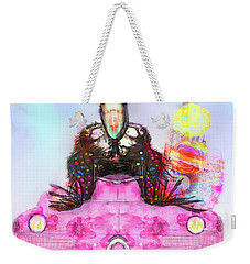 Kitty Car Crow Weekender Tote Bag by Kari Nanstad