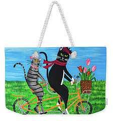 Kitty Cat Outing Weekender Tote Bag