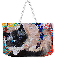 Kitty Goes To Paris Weekender Tote Bag
