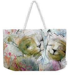 Kitty Hearts Weekender Tote Bag