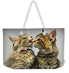 Kitty Kisses Weekender Tote Bag