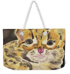 Bright Eyes Weekender Tote Bag by Meryl Goudey