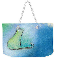 Kitty Reflects Weekender Tote Bag by Valerie Reeves