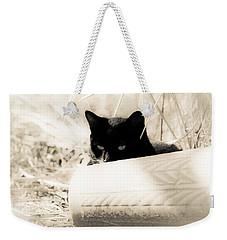 Kitty Stalks In Sepia Weekender Tote Bag