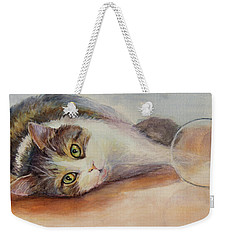 Kitty With Spilled Milk Weekender Tote Bag