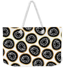 Kiwi Pattern Weekender Tote Bag by Elisabeth Fredriksson