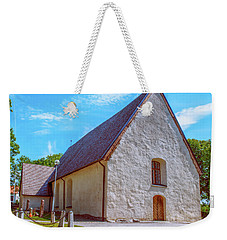 Weekender Tote Bag featuring the photograph Kjaerrbo Church  by Leif Sohlman