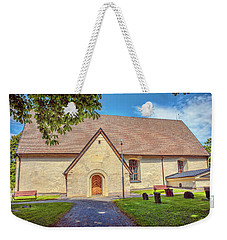 Weekender Tote Bag featuring the photograph Kjaerrbo Church South.  by Leif Sohlman