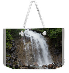 Weekender Tote Bag featuring the photograph Klondike Waterfall by Ed Clark