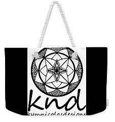 Weekender Tote Bag featuring the painting Knd Logo by Kym Nicolas