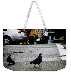 Weekender Tote Bag featuring the photograph Knee High In Lust  by Empty Wall