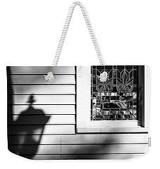 Kneeling Shadow Black And White Weekender Tote Bag
