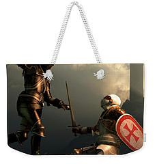 Knight Fight Weekender Tote Bag