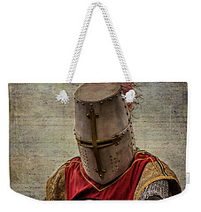 Weekender Tote Bag featuring the photograph Knight In Armor by Mary Hone