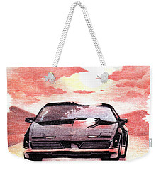 Weekender Tote Bag featuring the digital art Knight Rider by Gina Dsgn