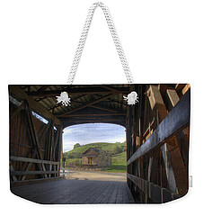 Knights Ferry Covered Bridge Weekender Tote Bag by Jim and Emily Bush