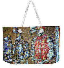 Weekender Tote Bag featuring the photograph Knights In Shining Armor by Dave Luebbert