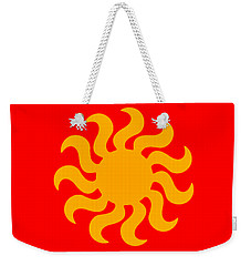 Knitted Sun Weekender Tote Bag