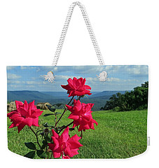 Weekender Tote Bag featuring the photograph Knockout Rose 2 by Aaron Martens