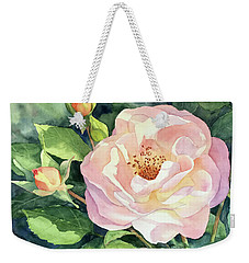 Knockout Rose And Buds Weekender Tote Bag by Vikki Bouffard