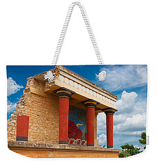 Knossos Palace At Crete, Greece Weekender Tote Bag