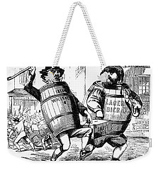 Weekender Tote Bag featuring the drawing Know Nothing Cartoon, C1850 by Granger