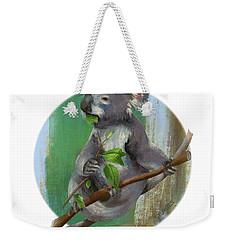 Koala Eating Weekender Tote Bag