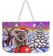 Koala On Christmas Ball Weekender Tote Bag by Remrov