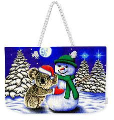 Koala With Snowman Weekender Tote Bag by Remrov