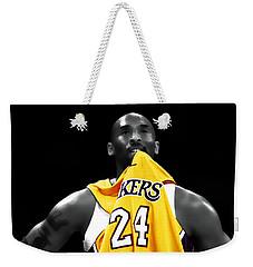Kobe Bryant 04c Weekender Tote Bag by Brian Reaves